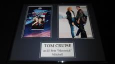 Tom Cruise Signed Framed 16x20 Photo Poster Display JSA Top Gun