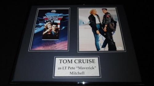 Tom Cruise Signed Framed 16x20 Photo Poster Display JSA Top Gun