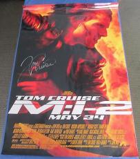 Tom Cruise Signed Mission: Impossible 2 M: I-2 27x40 Poster Agent Ethan Hunt
