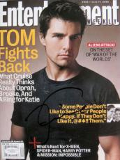Tom Cruise Signed NL ENTERTAINMENT EW Magazine JSA