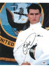 Tom Cruise Signed Top Gun Authentic Autographed 10x14 Photo PSA/DNA #Q33718