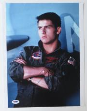 Tom Cruise Signed Top Gun Authentic Autographed 11x14 Photo (PSA/DNA) #Q33715