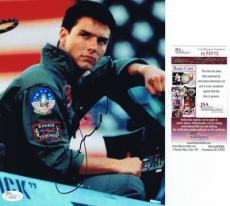 TOM CRUISE Signed TOP GUN Autographed 8x10 PHOTO - JSA #H75712