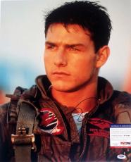 Tom Cruise Top Gun Autographed Signed 16x20 Photo PSA/DNA W71066