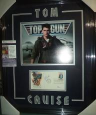 Tom Cruise Top Gun Movie Signed Autographed Double Matted & Framed Jsa Coa Rare