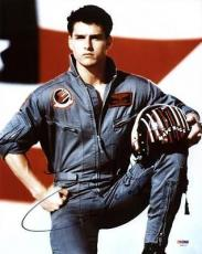 Tom Cruise Top Gun Signed 11x14 Photo Autographed Psa/dna #u59127