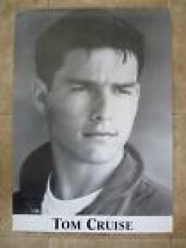 Tom Cruise Vintage Top Gun Signed Autographed 23.25x33 Poster Beckett Certified