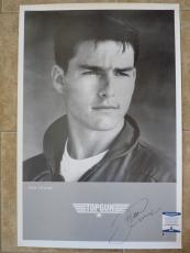 Tom Cruise Vintage Top Gun Signed Autographed 24x36 Poster Beckett Certified