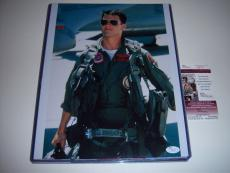 Tom Cruise Top Gun,cocktail,risky Buisness,actor Jsa/coa Signed 11x14 Photo