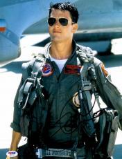 "Tom Cruise Autographed 11"" x 14"" Top Gun Wearing Flight Suit Photograph - PSA/DNA COA"