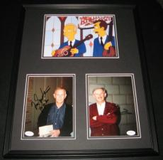 Tom & Dick Smothers Dual Signed Framed 16x20 Photo Display The Simpsons JSA