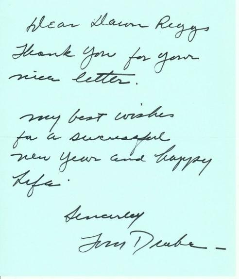 Tom Drake Signed Autograph Personal Letter Actor Meet Me in St Louis JSA II43995