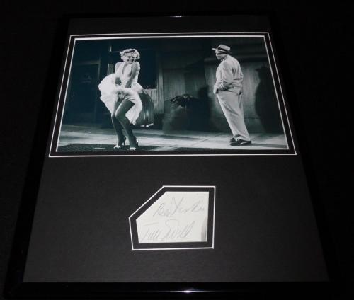 Tom Ewell Signed Framed 11x14 Photo Display with Marilyn Monroe Seven Year Itch
