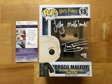 Tom Felton Signed Draco Malfoy Harry Potter Funko Pop Filthy Mudblood JSA Coa