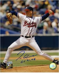 "Tom Glavine Atlanta Braves Autographed 8'' x 10'' Pitching Photograph with ""CY 91, 98"" Inscription - Mounted Memories"