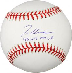 "Rawlings Tom Glavine Atlanta Braves Autographed Baseball with ""95 WS MVP"" Inscription"
