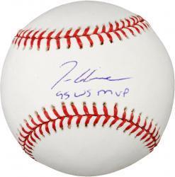 "Rawlings Tom Glavine Atlanta Braves Autographed Baseball with ""95 WS MVP"" Inscription"