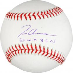 Rawlings Tom Glavine New York Mets Autographed Baseball with ''300 Win 8/5/07'' Inscription - Mounted Memories