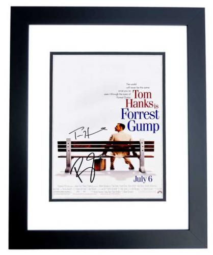 Tom Hanks and Robin Wright Signed - Autographed Forrest Gump 11x17 inch Photo BLACK CUSTOM FRAME - Guaranteed to pass PSA or JSA