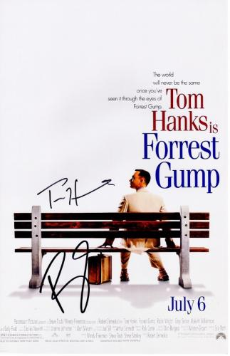 Tom Hanks and Robin Wright Signed - Autographed Forrest Gump 11x17 inch Photo - Guaranteed to pass PSA or JSA