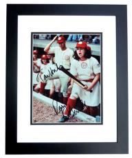 Tom Hanks and Rosie O'Donnell DUAL Signed - Autographed A League of their Own 8x10 Photo BLACK CUSTOM FRAME