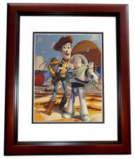 Tom Hanks and Tim Allen Autographed TOY STORY 8x10 Photo MAHOGANY CUSTOM FRAME