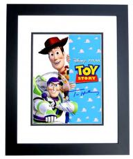 Tom Hanks and Tim Allen Signed - Autographed TOY STORY 11x14 inch Photo BLACK CUSTOM FRAME - Woody and Buzz Lightyear - Guaranteed to pass PSA or JSA