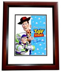 Tom Hanks and Tim Allen Signed - Autographed TOY STORY 11x14 inch Photo MAHOGANY CUSTOM FRAME - Woody and Buzz Lightyear - Guaranteed to pass PSA or JSA