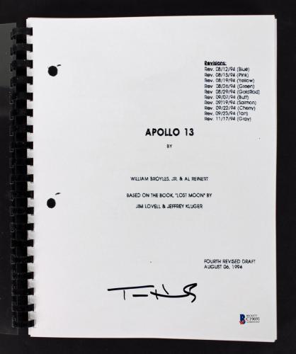 Tom Hanks Apollo 13 Signed Apollo 13 Movie Script BAS #C19691