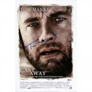 "Tom Hanks Autographed 12"" x 18"" Cast Away Photograph - BAS"