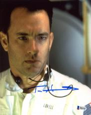 "Tom Hanks Autographed 8"" x 10"" Apollo 13 Close Up with Ear Bud Photograph - Beckett COA"