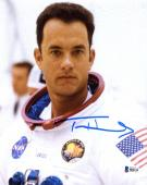 "Tom Hanks Autographed 8"" x 10"" Apollo 13 Wearing Nasa Suit Front view Photograph - Beckett COA"