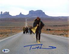 "Tom Hanks Autographed 8"" x 10"" Forrest Gump Middle of Road Running Marathon Photograph - Beckett COA"