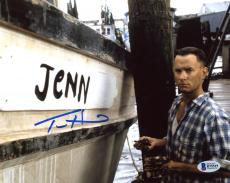 "Tom Hanks Autographed 8"" x 10"" Forrest Gump Painting Jenny On Side of Boat Photograph - Beckett COA"