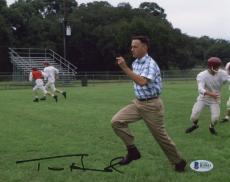 """Tom Hanks Autographed 8"""" x 10"""" Forrest Gump Running Photograph - Beckett COA"""