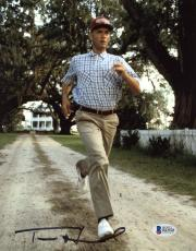"Tom Hanks Autographed 8"" x 10"" Forrest Gump: Running Photograph - Beckett COA"