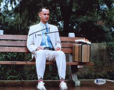 "Tom Hanks Autographed 8"" x 10"" Forrest Gump Sitting Photograph - Beckett COA"