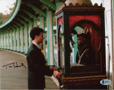 "Tom Hanks Autographed 8"" x 10"" Playing with Machine Photograph - Beckett COA"