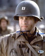 "Tom Hanks Autographed 8"" x 10"" Saving Private Ryan Close Up Photograph - Beckett COA"