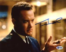 "Tom Hanks Autographed 8"" x 10"" The Green Mile Up Close Holding Something Photograph - Beckett COA"