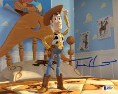 "Tom Hanks Autographed 8"" x 10"" Toy Story Woody Standing on Bed Photograph - Beckett COA"