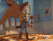 """Tom Hanks Autographed 8"""" x 10"""" Toys Story Woody Standing Photograph - Beckett COA"""