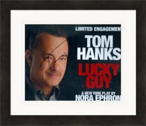 Tom Hanks autographed 8x10 photo (Lucky Guy Broadway Play) SC1 Matted & Framed