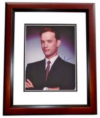 Tom Hanks Autographed 8x10 Photo MAHOGANY CUSTOM FRAME