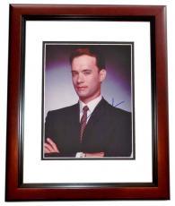 Tom Hanks Autographed 8x10 Photo MAHOGANY CUSTOM FRAME