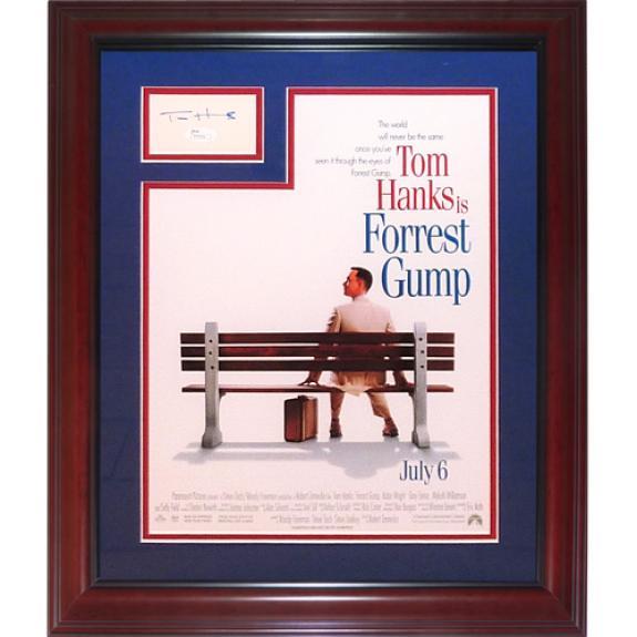 Tom Hanks Autographed Forest Gump 11×17 Movie Poster Frame with Signature – JSA