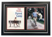 Tom Hanks Autographed Forest Gump Movie Bench & Run 30x21 Frame - Beckett COA