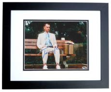 Tom Hanks Autographed FORREST GUMP 8x10 Photo BLACK CUSTOM FRAME