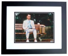 Tom Hanks Autographed Forrest Gump 8x10 Photo BLACK CUSTOM FRAME