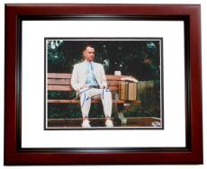 Tom Hanks Autographed Forrest Gump 8x10 Photo MAHOGANY CUSTOM FRAME